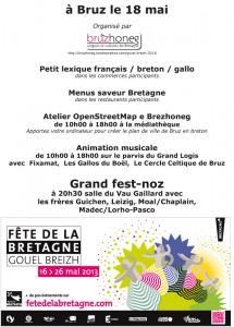 Programme de la fête de la Bretagne 2013 à Bruz