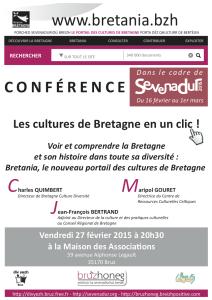 Conférence Sevenadur 2015 à Bruz